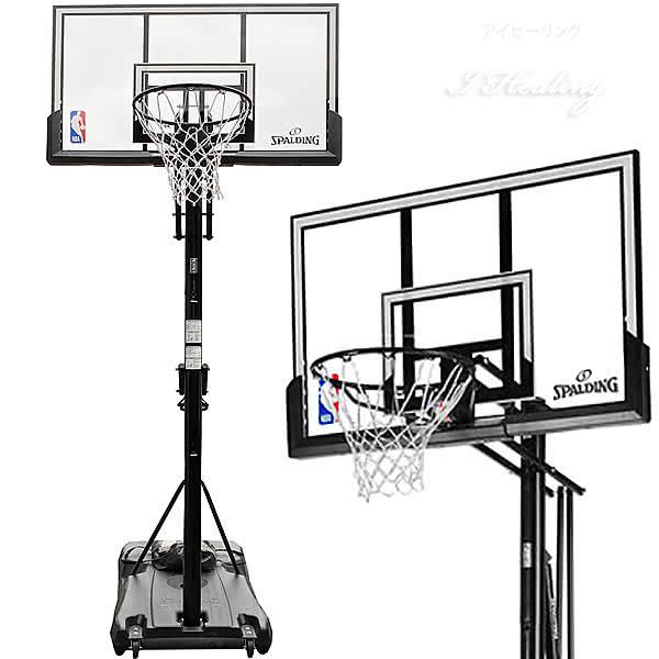 バスケットゴール 52インチ アキュグライド ガスリフト アクリル ポータブル NBA バスケットボール 簡単高さ調節 自宅シュート練習 家庭 屋外 スポルディング 6A042