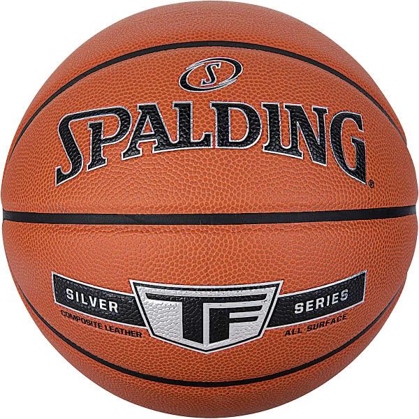 スポルディング 女性用 バスケットボール 6号 シルバー TF ブラウン バスケ 76-860Z 合成皮革 SPALDING