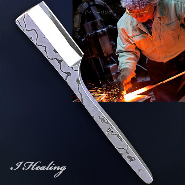 二唐刃物鍛造所の刀匠が鍛えた剃刀 ダマスカス 和カミソリ 片刃仕上げ 右利き用 日本製