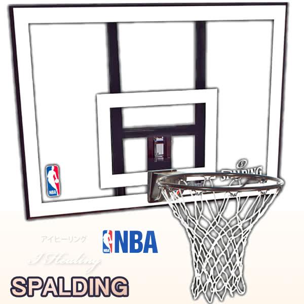 単品バスケットゴール 屋外用 バックボード スポルディング NBAコンボ バスケットボール COMBO 自宅 家庭用 バスケ練習 お客さま組立 SPALDING 79484CN