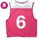 バスケットボール ビブス 6枚セット ピンク ゼッケン番号6-11 スポルディング メッシュ吸汗速乾素材 SPALDING SUB130720-PINK