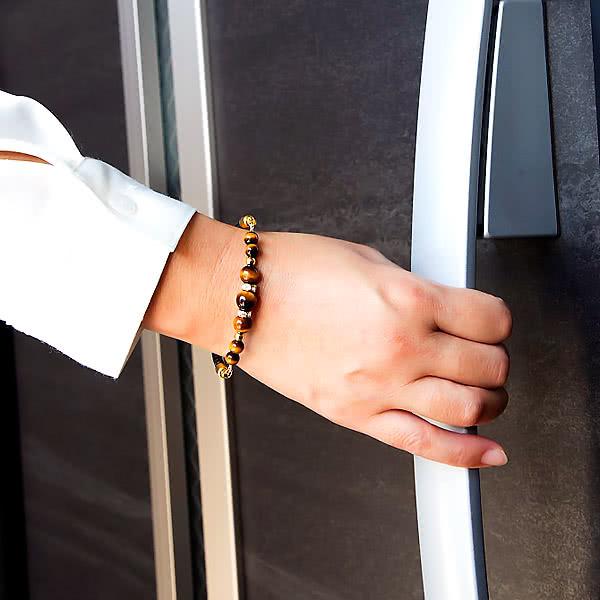 静電気除電 天然石入りブレスレット トラメ石 ローズクォーツ ブレスレット レディース アクセサリー 日本製
