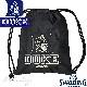 ナップサックDUKE バスケットボール スポーツ スポルディング デューク ブラック SPALDING41-011DKK サイドポケット付