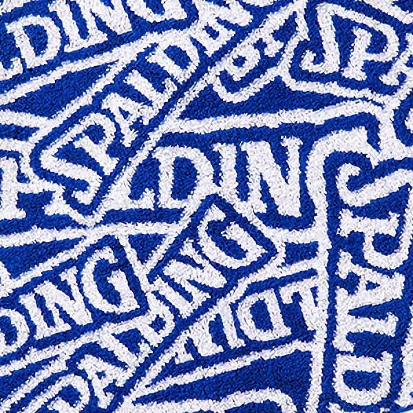 スポーツタオル 34*80cm ジャカードタオル SDロゴ ブルー バスケットボール 綿 スポルディング SAT211030 SPALDING 21AW
