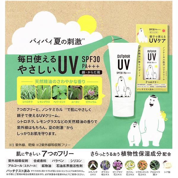 アウトドア UVクリーム  SPF30 PA+++ 美健 ノンケミカル 日焼け止めクリーム 親子で使えるUVケア