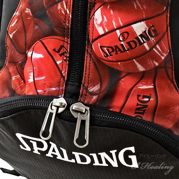 SPALDING ケイジャー マーブルレッド バスケットボール用バッグ 32L CAGERリュック スポルディング 40-007MRD