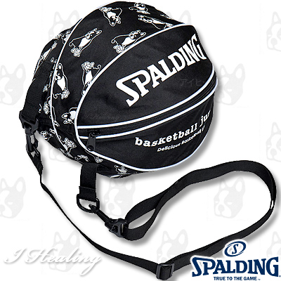 basketball junky バスケットボール収納ボールバッグ 楽しいスポーツ犬パンディアーニ君 SPALDING BSK18109