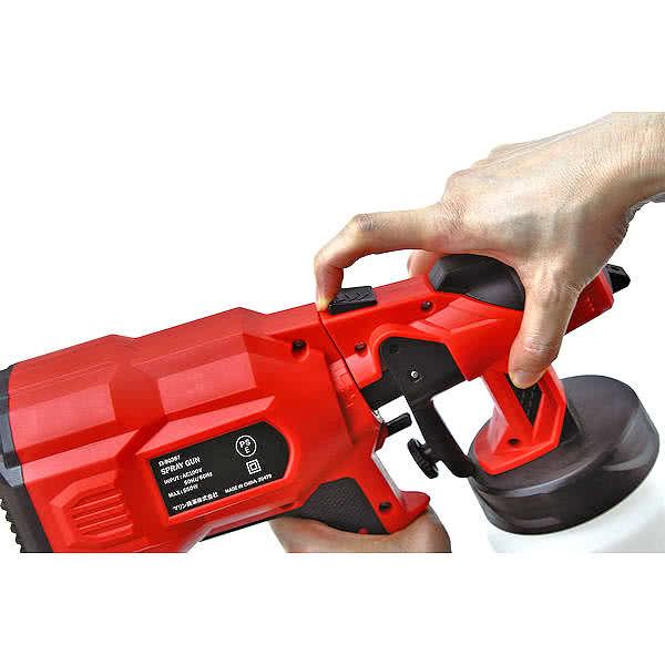 電動スプレーガン 吹付け式 塗装機セット DIY AC100V 550W タンク容量800ml EI-90387