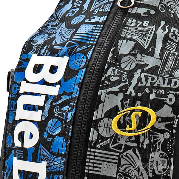 SPALDING ケイジャー デューク グラフィティ2 ネイビー 壁画柄バスケットボール用バッグ 32L CAGERリュック スポルディング 40-007DKG2