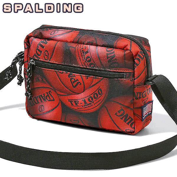 SPALDING バスケットボールバッグ ショルダーポーチ ブラウンボール スポルディング 50-010BB