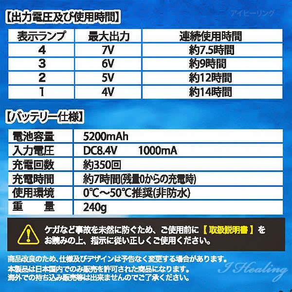暑さ対策ファン付 空調ベスト フルセット グレー 大容量バッテリー5200mAh 連続最大14時間 内側メッシュ 夏用 作業服 仕事 農業 KA-047