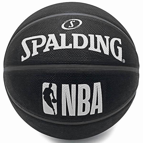 SPALDING バスケットボール7号 トワイライト ブラック ホワイト ラバー NBAロゴ スポルディング83-969Z