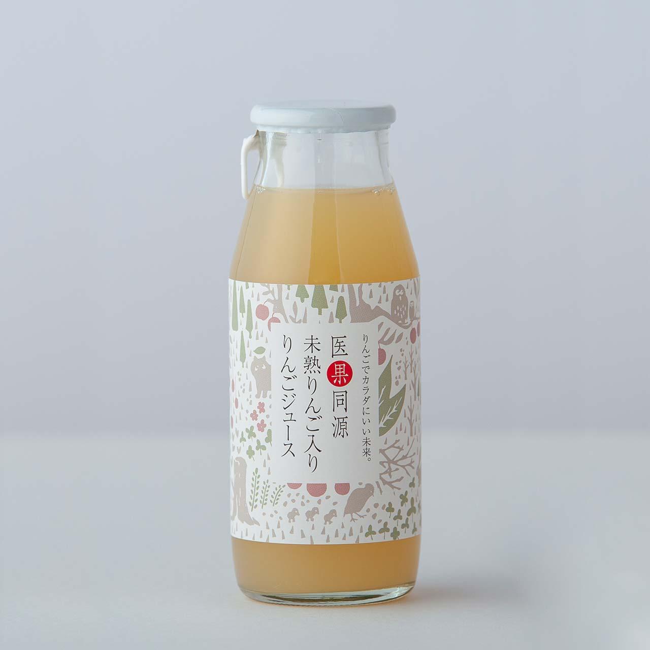 ビン6本 医果同源未熟りんご入りりんごジュース