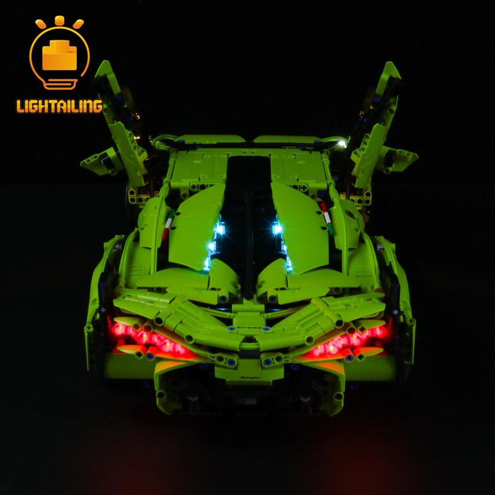レゴ 42115 ランボルギーニ シアン FKP37 ライトアップセット LEDライトキット+バッテリーボックス プレゼント クリスマス