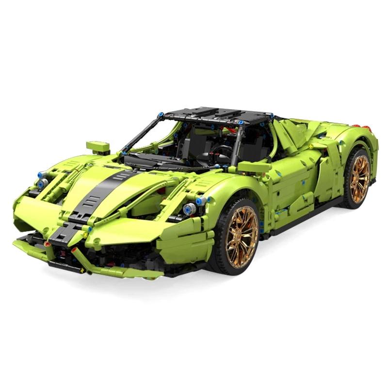 レゴ テクニック 互換品 フェラーリ エンツォ デザイン グリーン スーパーカー スポーツカー レースカー MOC クリスマス プレゼント レースカー 車 おもちゃ ブロック 知育玩具 入学 お祝い こどもの日