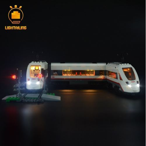 レゴ シティ 60051 [LED ライト キット+バッテリーボックス] 電車 ハイスピードパッセンジャー トレイン TRAINS HIGH-SPEED PASSENGER 電飾 ライトアップ セット