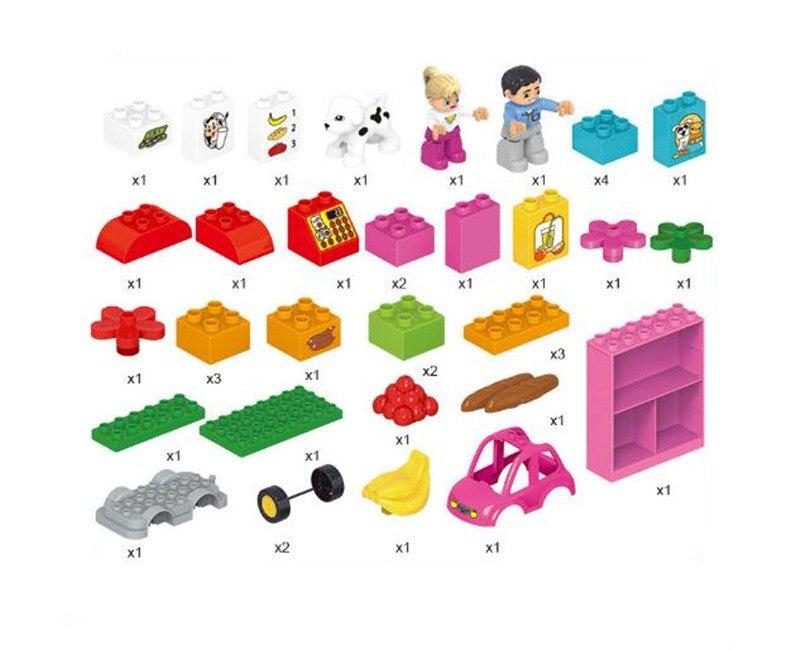 デュプロ 互換 プレイハウス おみせやさん ホーストレーラー 立体パズル 知育玩具 早期教育 STEM 論理的思考