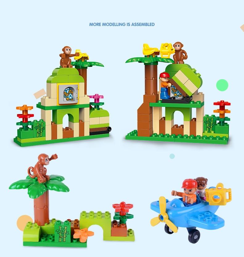 レゴ duplo デュプロ 互換 サバンナ ジャングル どうぶつえん 立体パズル 知育玩具 早期教育 STEM 論理的思考