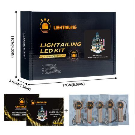 レゴ 10182 [LEDライトキット+バッテリーボックス] クリエイター カフェコーナー Cafe Corner 電飾 ライトアップ セット