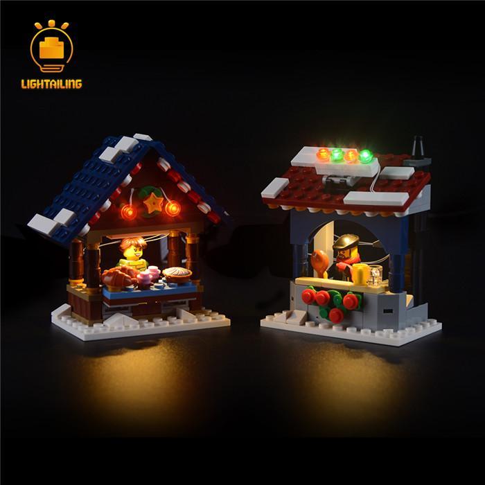 レゴ 10235 [LEDライトキット+バッテリーボックス] ウインタービレッジマーケット WINTER VILLAGE MARKET 電飾 ライトアップ セット