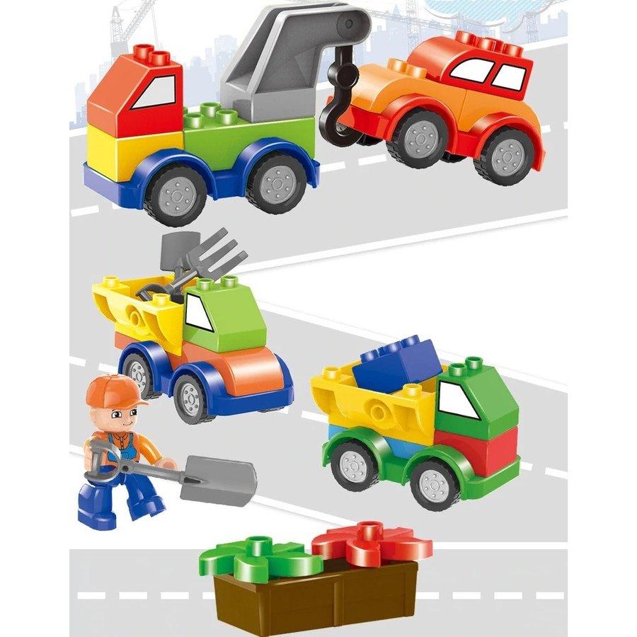 レゴデュプロのまち 互換ブロック 色んな車 乗り物 セット 168ピース クリスマス プレゼント 互換 知育玩具 学習玩具 おもちゃ ブロック 入学 お祝い こどもの日 男の子 女の子 カラフルシティ 車 おもちゃ