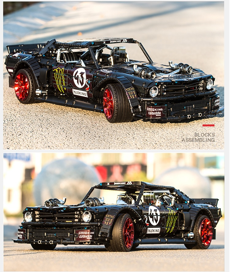 レゴ 互換品 漆黒のマスタング モーターセット フォードマスタング ブラック テクニック スーパーカー スポーツカー レースカー クリスマス プレゼント レースカー 車 おもちゃ ブロック 知育玩具 入学 お祝い こどもの日