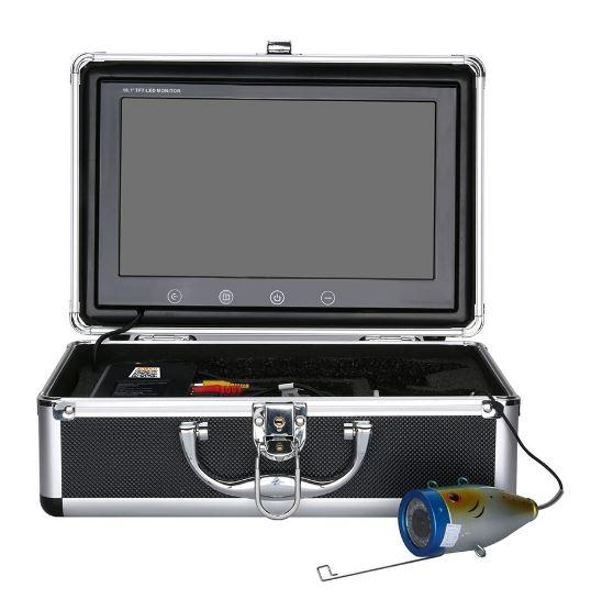 wifi接続 赤外線/白色LEDライト12灯 10インチモニター アルミ合金 水中カメラ キット ケーブル(20-30m) スマホ タブレット Android IOS 釣りカメラ 魚群探知 高輝度 1000tvl GAMWATER 魚群探知機 ソナー フィッシュファインダー アクションカメラ