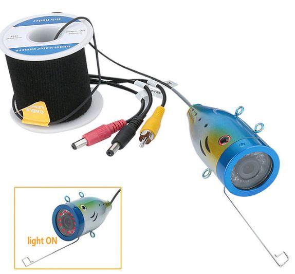 水中カメラ 釣りカメラ 赤外線/白色 LED12灯 アルミ製カメラ 7インチモニター 10-30mケーブル GAMWATER
