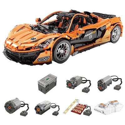 まるでラジコンレゴ テクニック 互換 マクラーレン P1 モーター ライトキットセット オレンジ