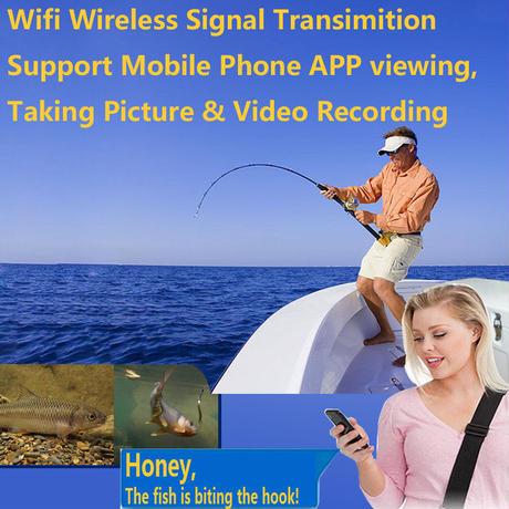 wifi 白色LED6灯 アルミ 水中カメラ 釣りカメラ (ケーブル:20-50m) GAMWATER
