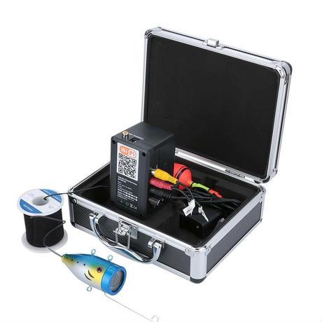 wifi 赤外線/白色LED12灯 アルミ 水中カメラ 釣りカメラ (ケーブル:20-50m) GAMWATER