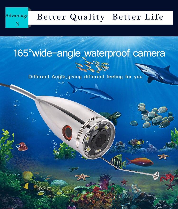 wifi ステンレス 水中カメラ 釣りカメラ 白色LED6灯 7インチモニター 15-50mケーブル GAMWATER