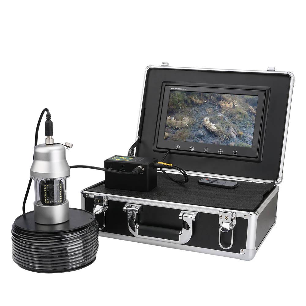 360度回転 CCD 水中カメラ 釣りカメラ LED38灯(赤外線+白色) 10インチモニター 20-100m ケーブル GAMWATER