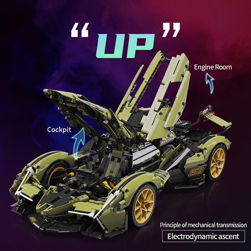 レゴ 互換品 ランボルギーニ V型12気筒エンジン搭載イメージ デザイン V12 スポーツカー スーパーカー テクニック 互換 ブロック プレゼント クリスマス おもちゃ ブロック 知育玩具 入学 お祝い こどもの日