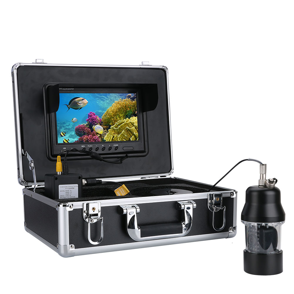 360度回転 CCD 水中カメラ 釣りカメラ 白色LED 22灯 録画機能 9インチモニター ケーブル(15/20/30/50/100m) SDカード付き GAMWATER