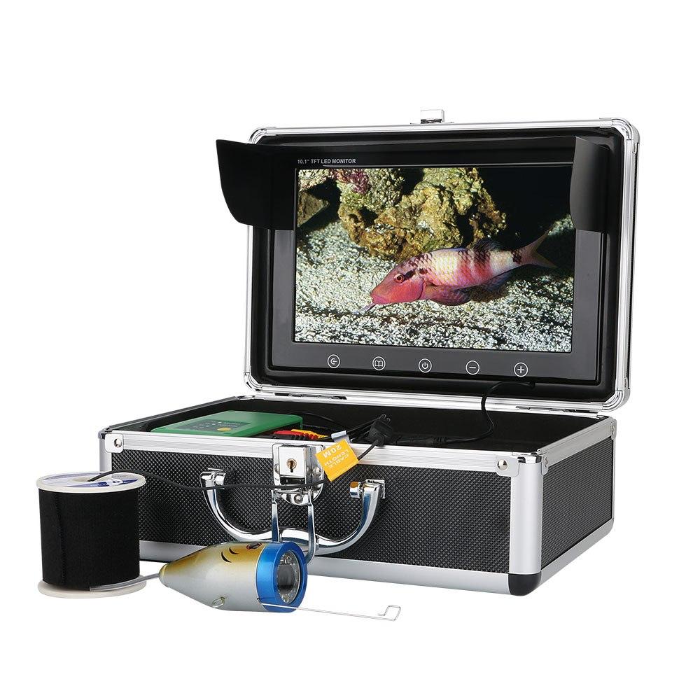 水中カメラ 釣りカメラ 赤外線+白色 LED 30灯 アルミ製カメラ 10インチモニター 15-50m ケーブル GAMWATER