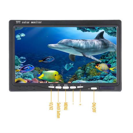 360度回転 CCD 水中カメラ 釣りカメラ 白色LED 14灯 7インチモニター 20-100m ケーブル GAMWATER
