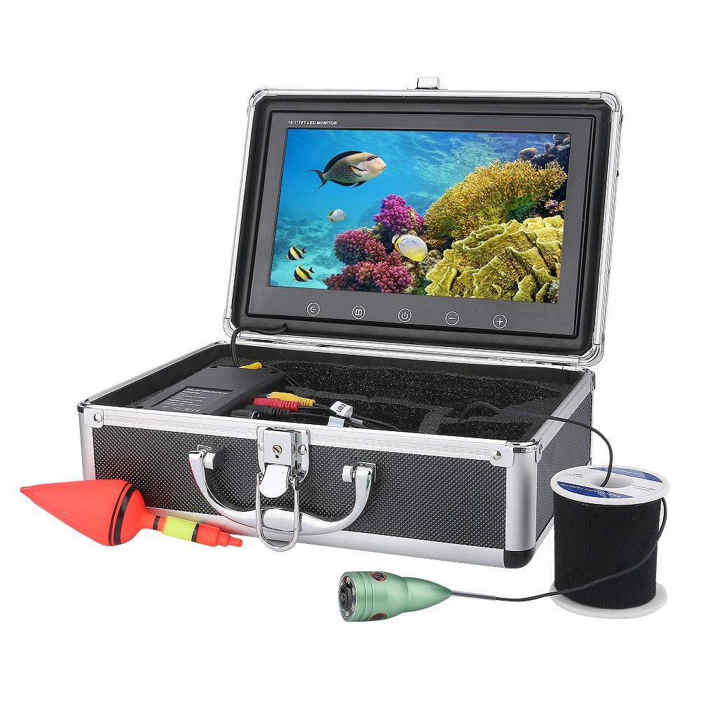 白色LED 6灯 10インチモニター アルミ合金水中カメラ 1000tvl 釣りカメラ キット ケーブル(20-50m) GAMWATER  魚群探知機 ソナー フィッシュファインダー アクションカメラ