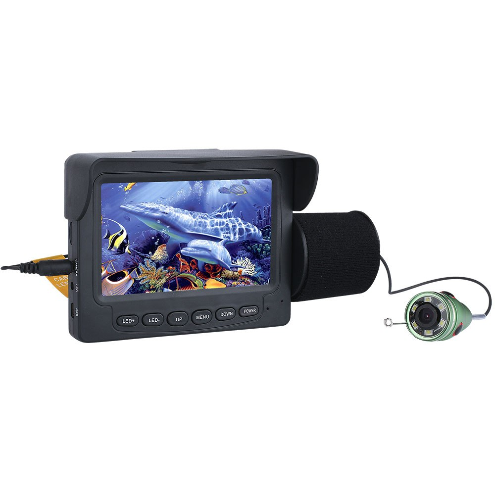 釣竿カメラ 水中カメラ 釣りカメラ アルミ製 赤外線/白色LED6灯 4.3インチモニター15-30m ケーブル GAMWATER