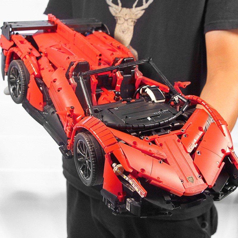 まるでラジコン レゴテクニック 互換 ランボルギーニ・ヴェネーノ モーター&ライトキットセット レッド