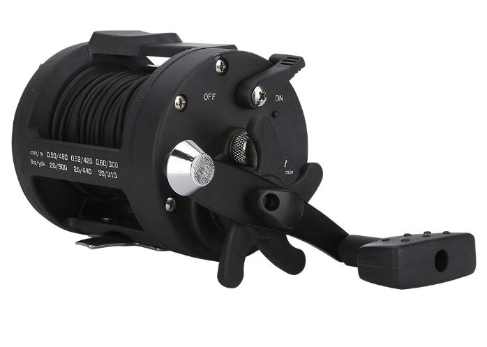 リール付き 釣竿カメラ アルミ 水中カメラ 釣りカメラ 赤外線/白色LED6灯 4.3インチモニター 15-25m ケーブル GAMWATER