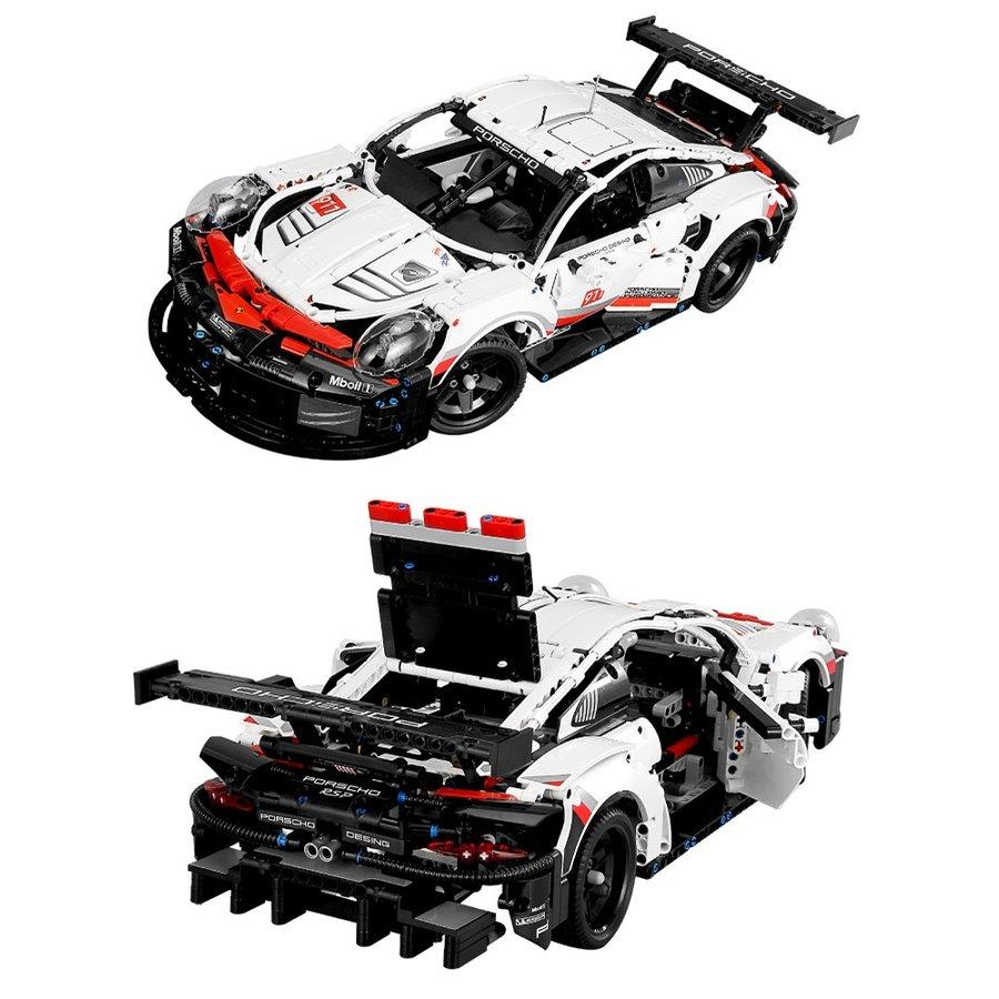 レゴ 互換品 ポルシェ 911 RSR デザイン 欠パーツ補償 プレゼント クリスマス スーパーカー レースカー 車 おもちゃ ブロック 互換品 知育玩具 入学 お祝い こどもの日