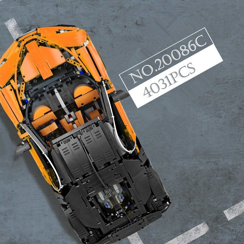 レゴ 42083 互換品 オレンジのブガッティ・シロン テクニック 欠パーツ補償