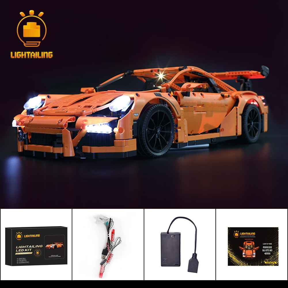 レゴ 42056 用 [LED ライトキット+バッテリーボックス] テクニック ポルシェ 911 GT3 RS Race Car 電飾 ライトアップ セット