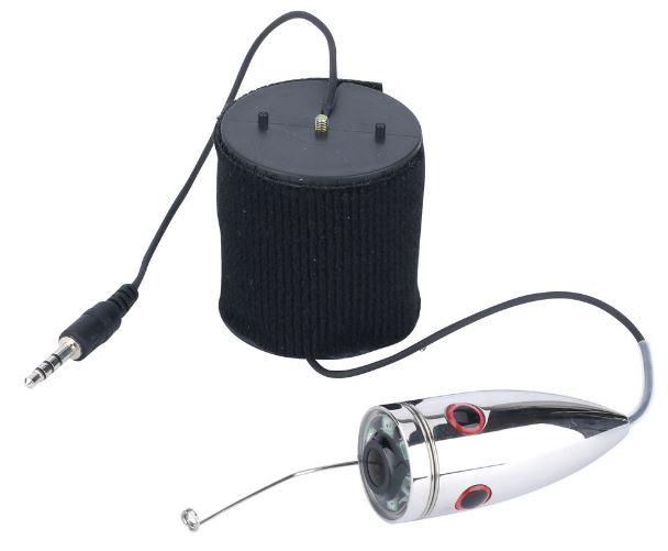 釣竿カメラ ステンレス 水中カメラ 釣りカメラ 赤外線/白色LED6灯 4.3インチモニター 15-30m ケーブル GAMWATER 録画 SDカード
