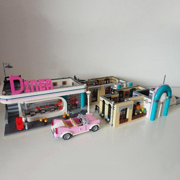 レゴ 互換品 ダウンタウン ディナー ダイナー クリエイター 10260 シティー 建物 おもちゃ ブロック クリスマス プレゼント 知育玩具 入学 お祝い こどもの日