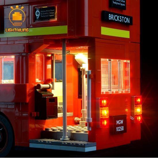 レゴ10258 用 [LEDライトキット+バッテリーボックス] ロンドンバス London Bus 電飾 ライトアップ セット