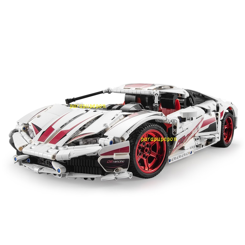 レゴ テクニック 互換品 ランボルギーニ ウラカン LP610 タイプ レーシングカー スーパーカー