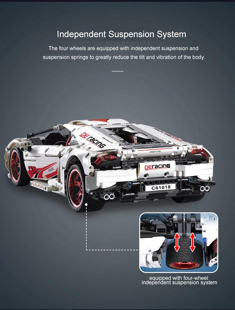 レゴ テクニック 互換品 ランボルギーニ ウラカン LP610 タイプ モーター ライトキットセット レーシングカー スーパーカー
