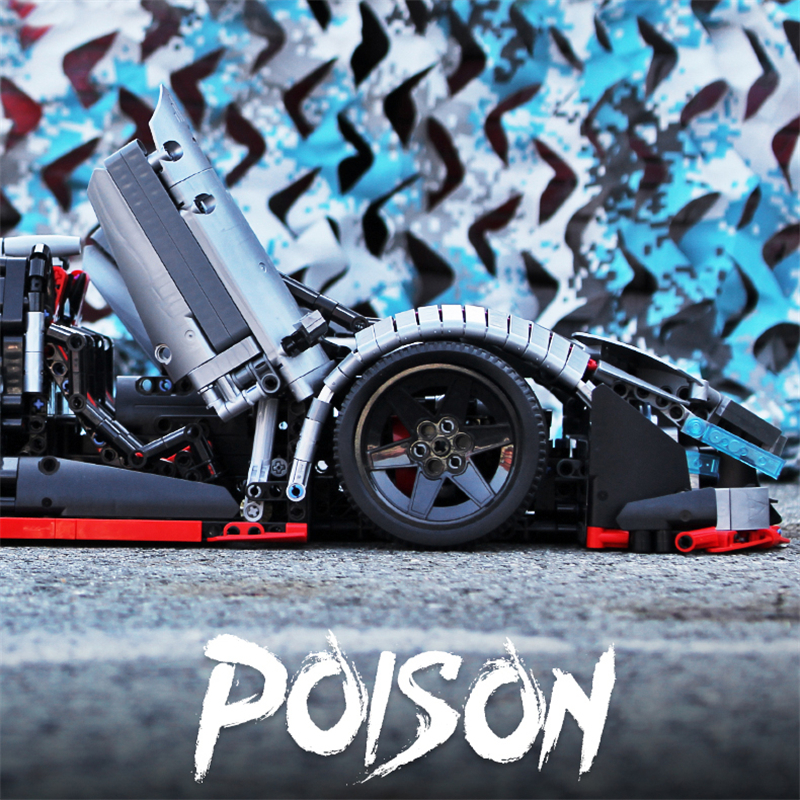 レゴ テクニック 互換品 ランボルギーニ ポイズン デザイン ロードスター スポーツカー レースカー